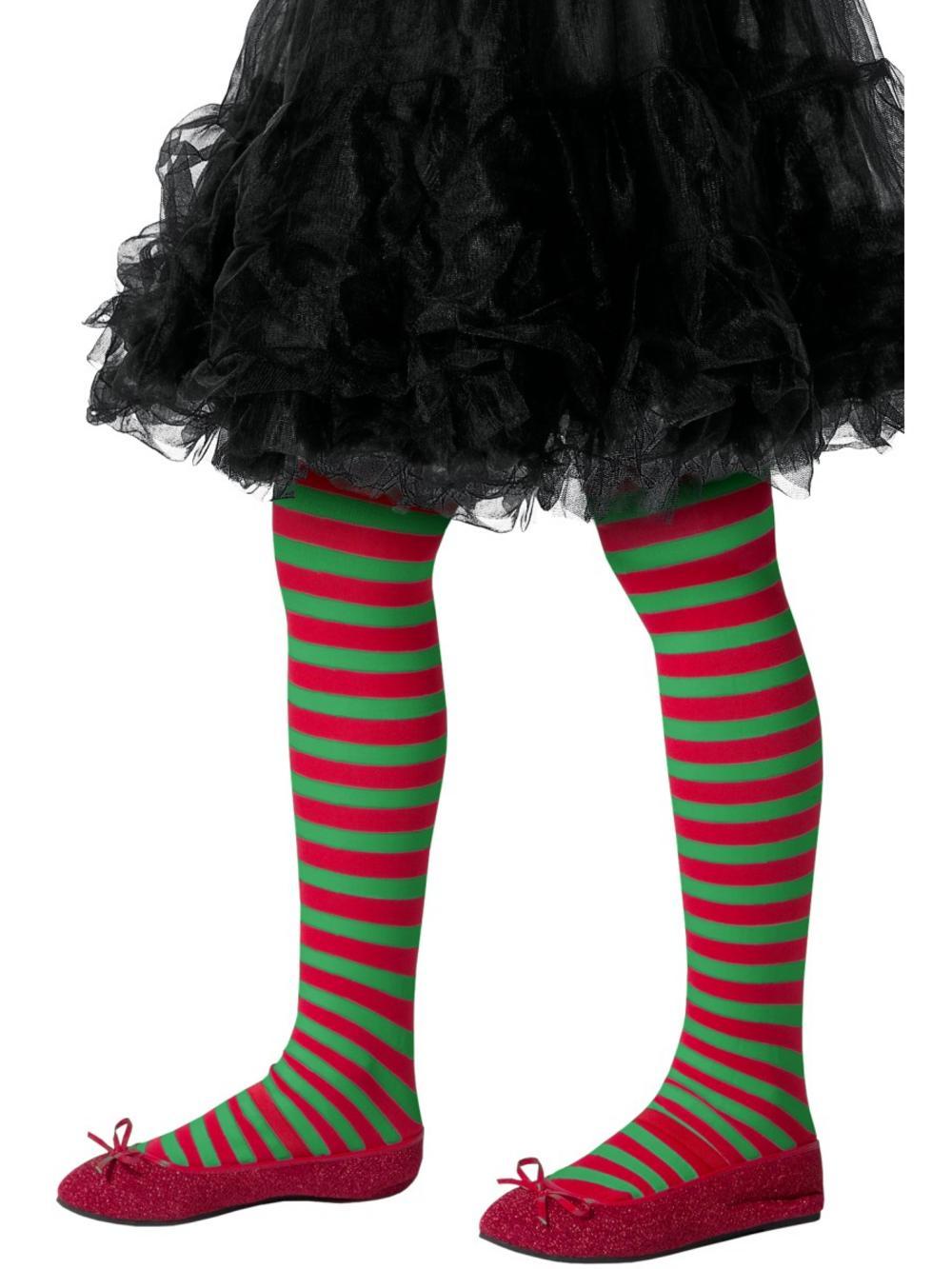 Elf Striped Girls Tights