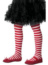 Santa Striped Girls Tights