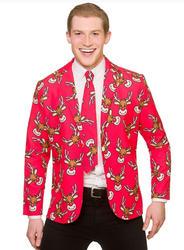 Fun Reindeer Christmas Jacket & Tie
