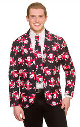 Fun Santa Christmas Jacket & Tie
