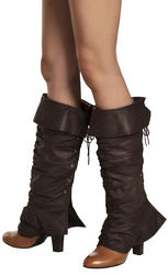 Huntress Boot Top Ladies Costume Accessory