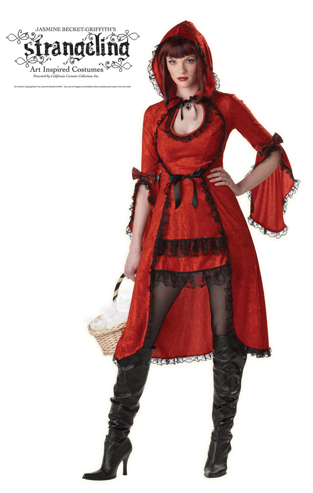 Ladies' Sexy Red Riding Hood Fancy Dress Costume