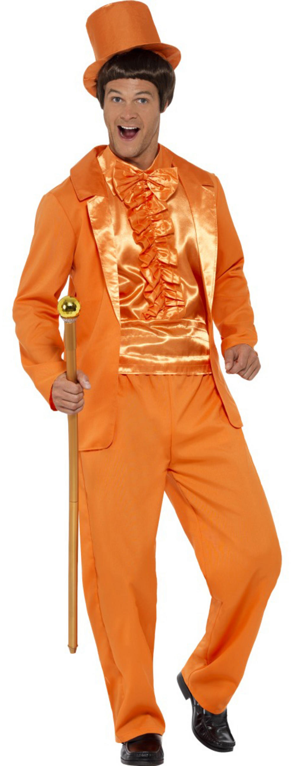 Orange 90s Stupid Tuxedo Mens Costume