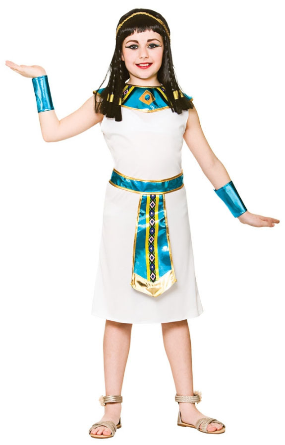 23f3b2b6c39 Sentinel Ancient Egyptian Girls Fancy Dress Queen Cleopatra Egypt Childrens  Kids Costumes