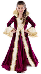 Royal Ball Gown Victoria Girls Costume