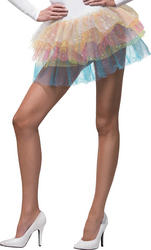 Sparkle Rainbow Tutu Costume Accessory