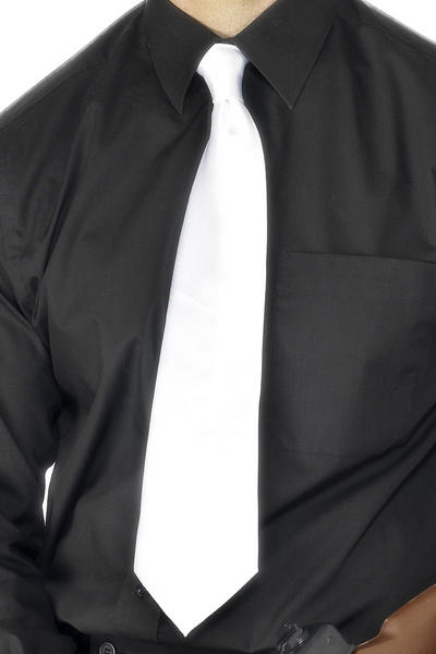 Deluxe White Gangster Tie Adults Costume Accessory
