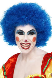 Blue Crazy Clown Wig