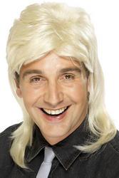Blonde Mullet Mens Wig