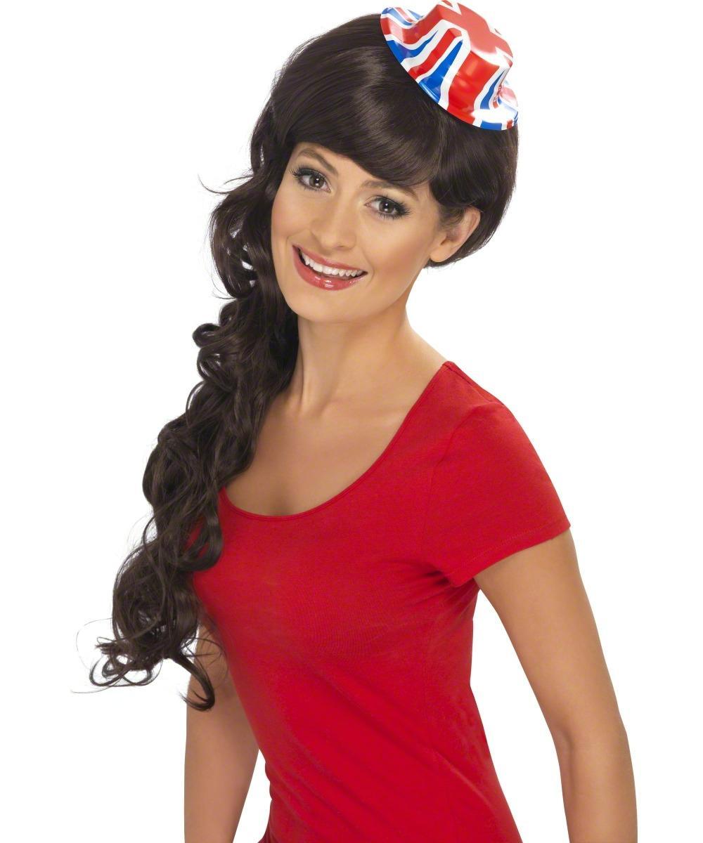Union Jack Flag Mini Bowler Hat Fancy Dress Costume Accessory
