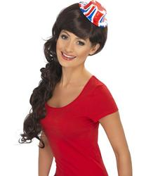 Union Jack Flag Mini Bowler Hat Fancy Dress Costume Accessory