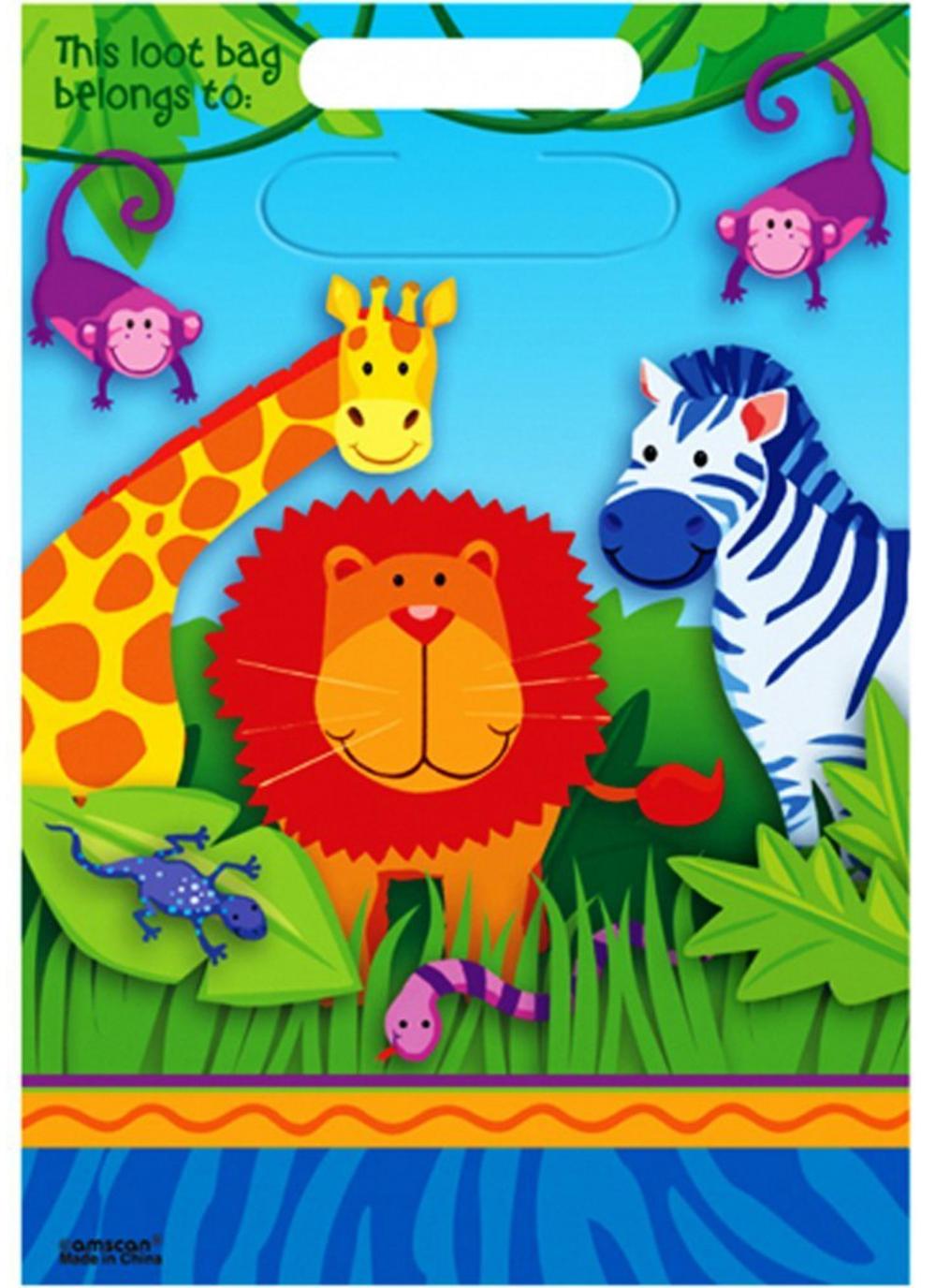 Jungle Animals Loot Bags