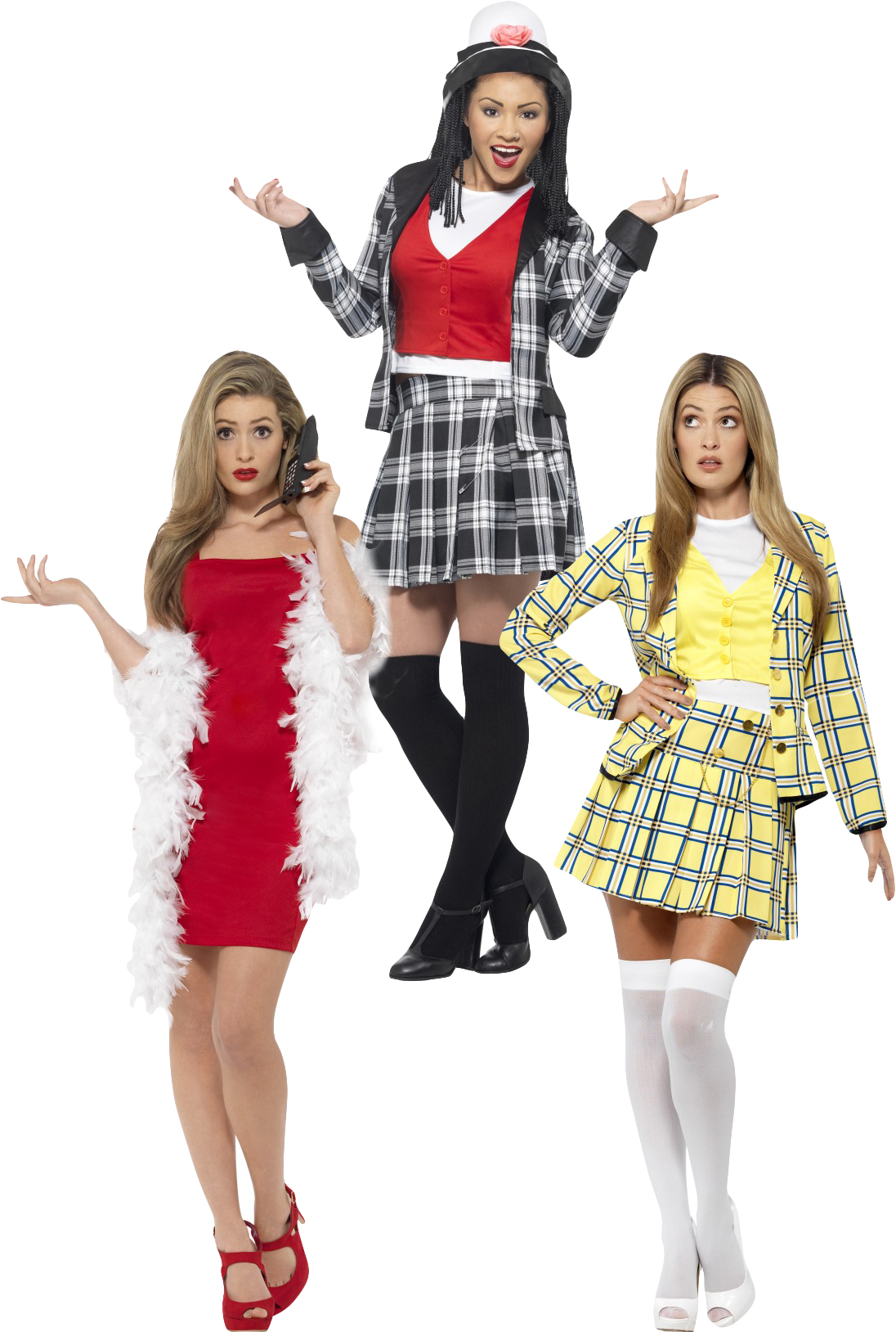 Clueless Ladies Fancy Dress Film Movie Character Novelty
