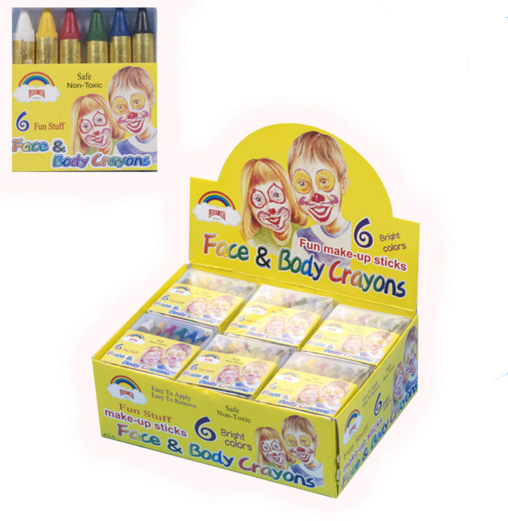 Face & Body Paint Crayons in 6 Fun Colours
