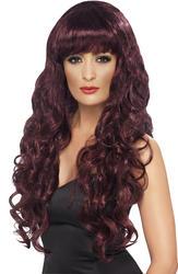 Maroon Siren Wig