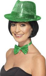 Green Sequin Trilby Hat