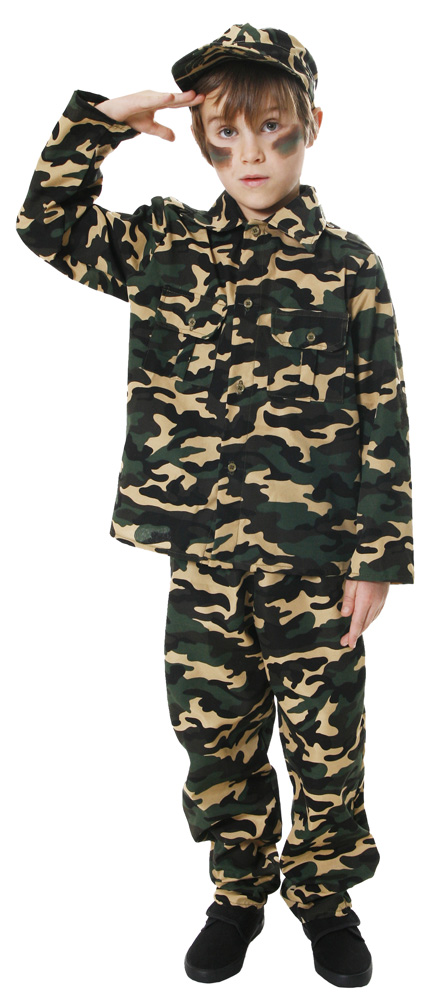 Army Boy Toy Soldier Fancy Dress Childrens Uniform Costume Outfit