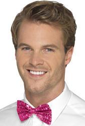 Pink Sequin Bow Tie