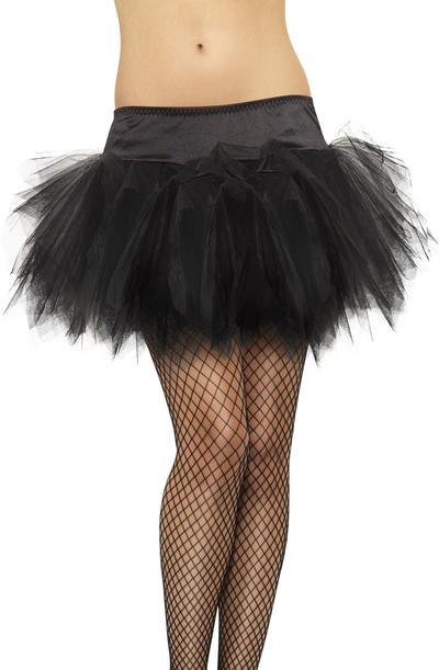 Black Frilly Tutu Costume Accessory