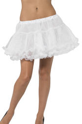 White Petticoat with Satin Band