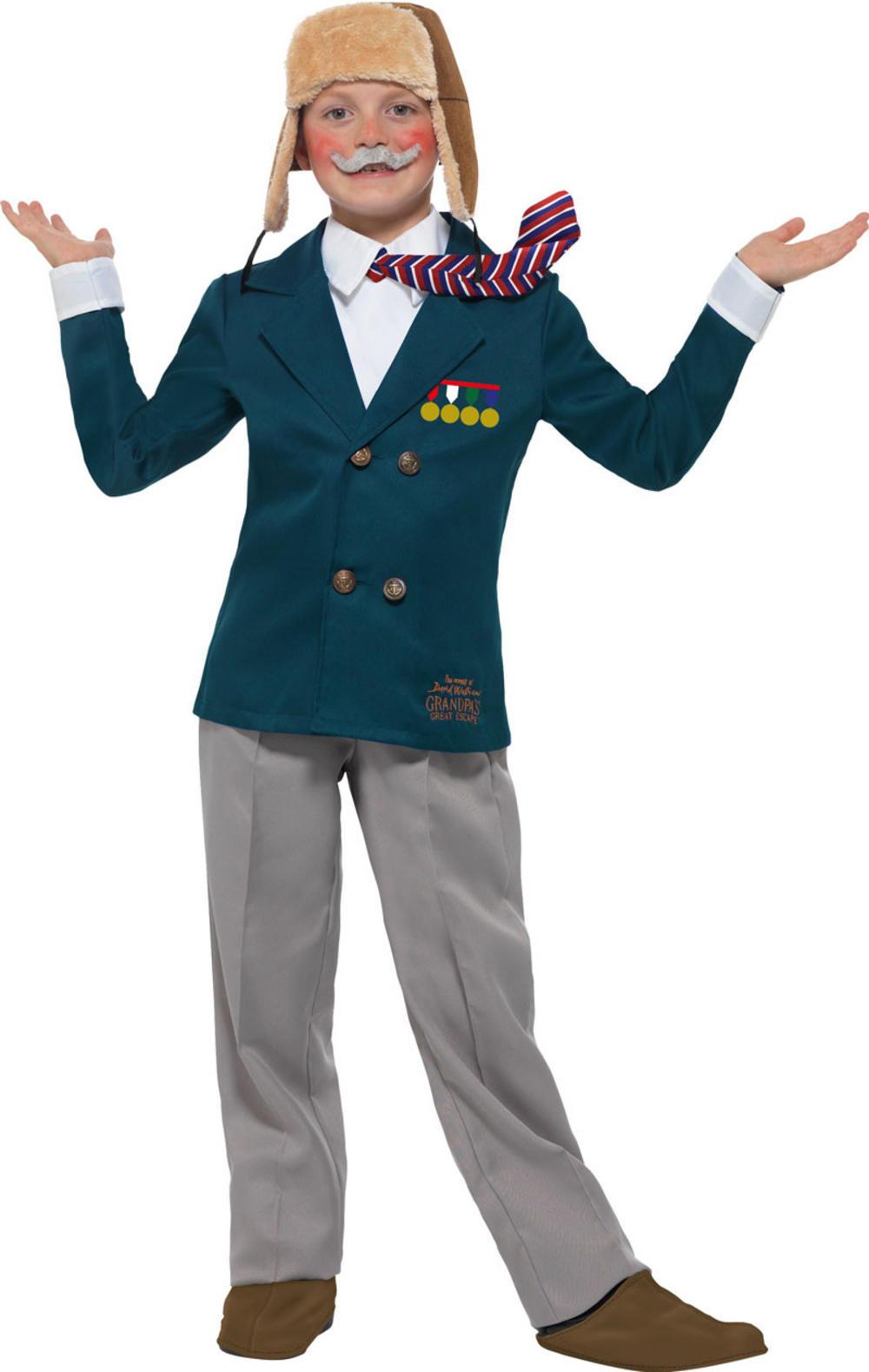 David Walliams Deluxe Grandpas Great Escape Boys Costume