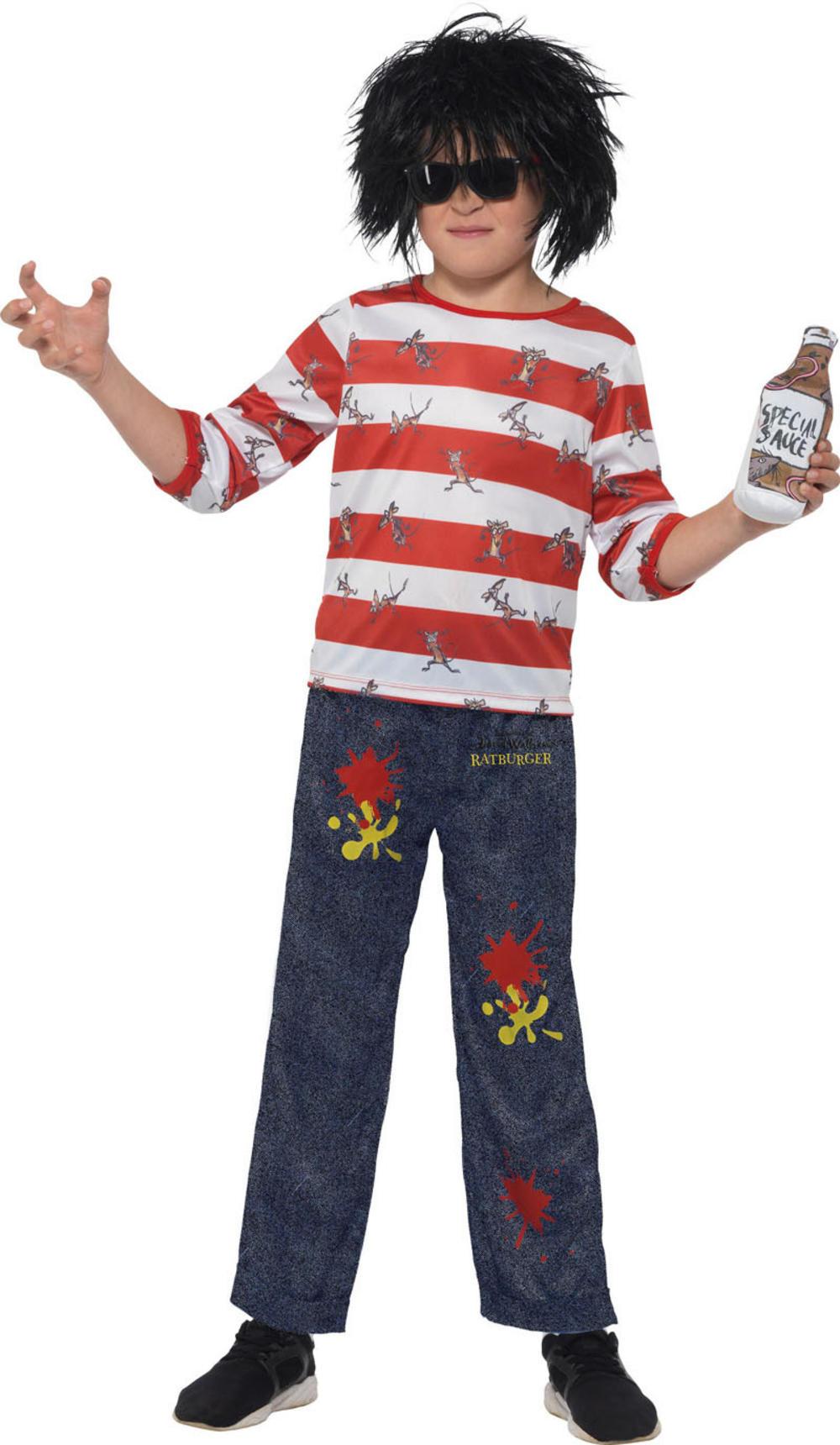 David Walliams Deluxe Ratburger Boys Costume