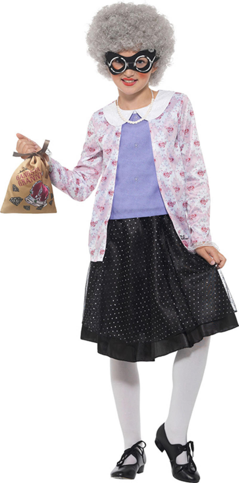 David Walliams Deluxe Gangsta Granny Girls Costume