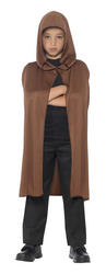 Brown Hooded Cape Costume Accessory