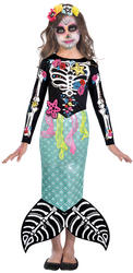 Day of the Dead Mermaid Girls Costume