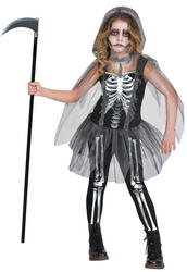 Skeleton Reaper Girls Costume