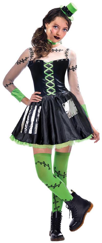 Freaky Frankie Girls Costume