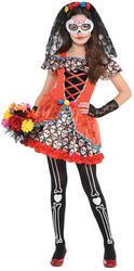 Sugar Skull Senorita Girls Costume
