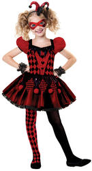 Harlequin Cutie Girl's Costume