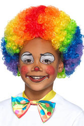 Rainbow Clown Kids Wig