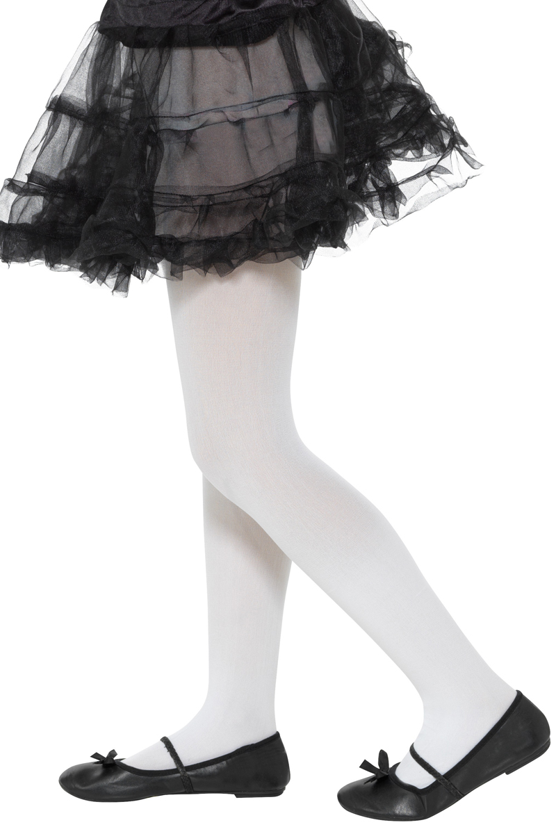 White Opaque Tights Childs Fairytale Accessories Mega