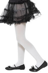 White Opaque Tights Childs