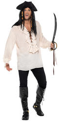White Pirate Shirt Adults Costume Accessory