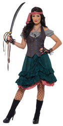 Deluxe Pirate Wench Ladies Costume
