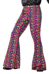 60s Psychedelic CND Flared Mens Trousers