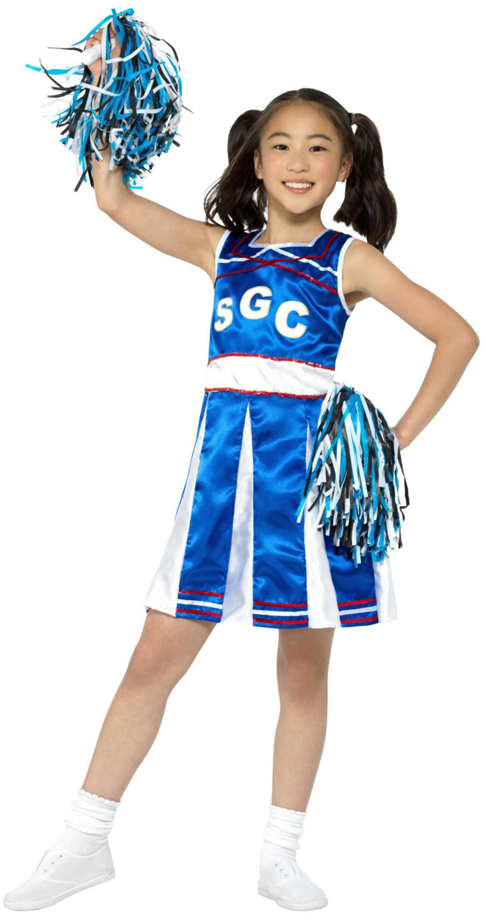 Blue Cheerleader Costume