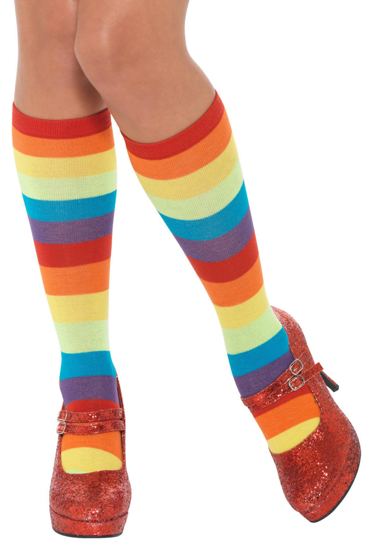 Rainbow Clown Socks Adults Costume Accessory