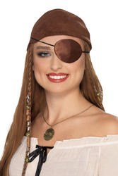 Deluxe Brown Pirate Eyepatch