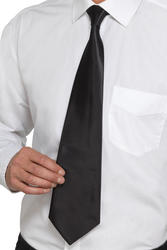 Deluxe Black Gangster Tie Adults Costume Accessory