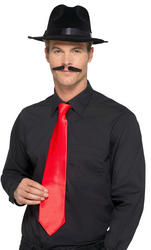 Deluxe Red Gangster Tie Adults Costume Accessory
