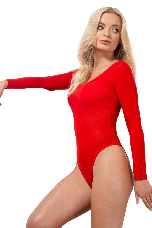Red Opaque Bodysuit