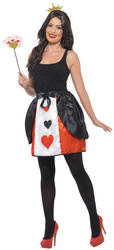 Wonderland Queen Ladies Costume Kit