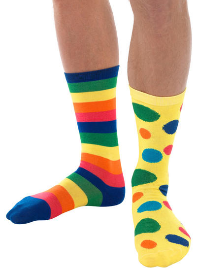 Big Top Clown Socks Adults Costume Accessory