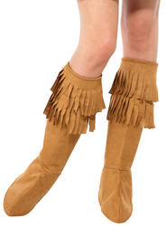 Hippie Fringe Bootcovers Ladies Costume Accessory