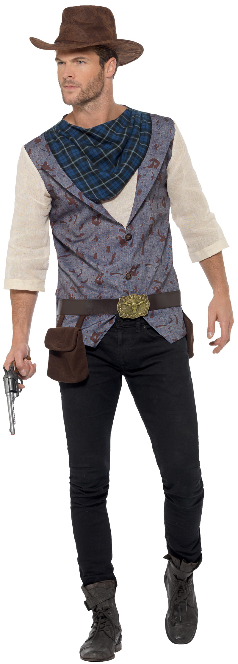 Rugged Cowboy Mens Costume  sc 1 st  Mega Fancy Dress & Rugged Cowboy Mens Costume | Letter