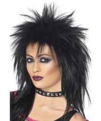 Rock Diva Black Wig
